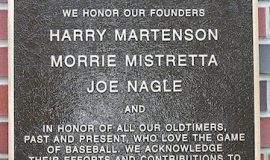 Jamestown and Area Oldtimers Baseball plaque