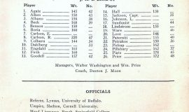 1931 Jamestown High School football program. Murray Shelton, umpire.