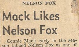 Mack Likes Nelson Fox.  1944.