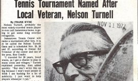 Tennis Tournament Named After Local Veteran, Nelson Turnell. Post-Journal (Jamestown), November 11, 1977.