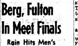 Berg, Fulton In Meet Finals.  8-16-52