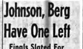 Johnson, Berg Have One Left. 8-19-61