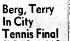 Berg, Terry In City Tennis Final.  8-23-63
