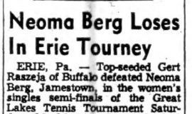 Neoma Berg Loses In Erie Tourney. 8-8-54