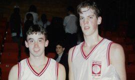 Nolan Swanson and Justin Johnson. WNY McDonalds game. 1994.