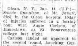 North Tonawanda Evening News, January 14, 1930.
