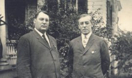 Parke Hill Davis, left, and Woodrow Wilson.
