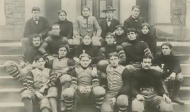 Coach PH Davis is in top row, far right. 1896.