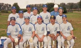 Gerry Vol. Fire Dept. softabll team early '80s. Paul Cooley in center, middle row.