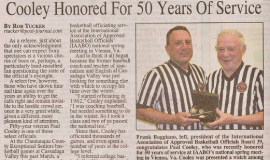 Cooley Honored for 50 Years of Service. 2012.