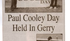 Paul Cooley Day Held In Gerry.  2015.