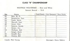 1962 Westfield basketball roster.