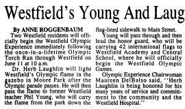 Westfield's Young And Laughlin Honored. June 6, 1996.