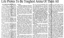 Life Proves To Be Toughest Arena Of Them All. August 10, 1995.