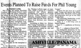 Events Planned To Raise Funds For Phil Young. August 24, 1995.