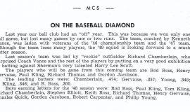 Mayville baseball 1949.