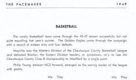 Mayville basketball 1949.