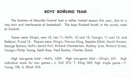 Mayville bowling 1950.
