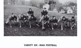 Mayville football 1948, Phil Young second from left.