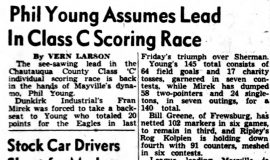 Phil Young Assumes Lead In Class C Scoring Race. February 7, 1951.
