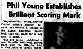 Phil Young Establishes Brilliant Scoring Mark. March 29, 1951.