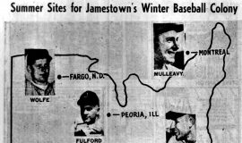 Summer Sites for Jamestown's Winter Baseball Colony.  March 30, 1956.