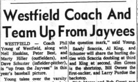 Westfield Coach And Team Up From Jayvees. April 23, 1963.