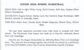 Mayville junior high basketball 1947