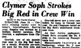 Clymer Soph Stokes Big Red in Crew Win. June 15, 1955.