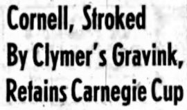 Cornell, Stroked By Clymer's Gravink, Retains Carnegie Cup. May 23, 1955.