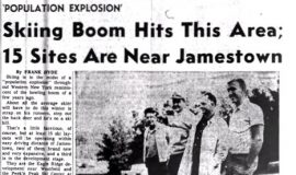 Skiing Boom Hits This Area; 15 Sites Are Near Jamestown. October 3, 1964.