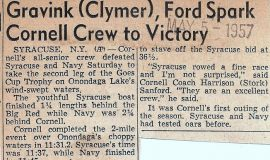 Gravink (Clymer), Ford Spark Cornell Crew to Victory. May 5, 1957.