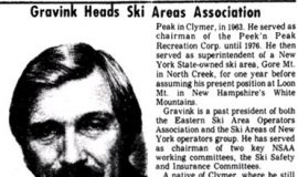 Gravink Heads Ski Areas Association. June 6, 1979.