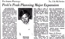 Peek'n Peak Planning Major Expansion.  September 21, 1972