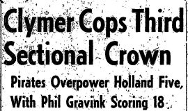Clymer Cops Third Sectional Crown. March 23, 1953.