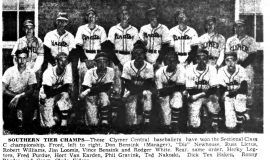 Southern Tier Champs. June 14, 1952.