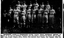 Sectional Class B Champions. July 28, 1951.