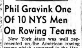 Phil Gravink One of 10 NYS Men On Rowing Teams. July 8, 1957.