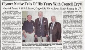 Clymer Native Tells Of His Years With Cornell Crew. Circa 2006.