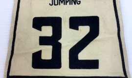 Ramsay Riddell ski-jumping bib from Canadian Ski Championships at Quebec, 1947.