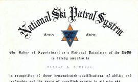National Ski Patrol System award, 1972.