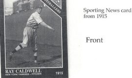 1915 Sporting News baseball card.