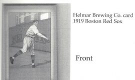 1919 Helmar Brewing Co. baseball card.
