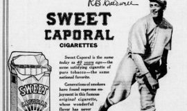 Ray Caldwell in cigarette advertisement.
