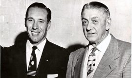 Bob Feller (left) with Ray Caldwell - both pitchers for the Cleveland Indians.