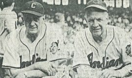 Ray Caldwell and his former Cleveland Indian manager and Hall-of-Famer Tris Speaker taken at 1950 Indians Old-Timers' Day.