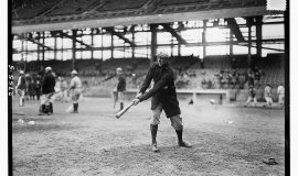 Ray Caldwell, New York  AL, at Ebbets Field exhibition game, 1913.
