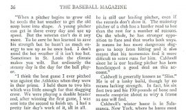 Ray Caldwell, the Hard Luck Pitcher. Page 4, September, 1916.