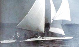 Dick Shearman sailing.