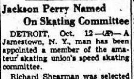 Jackson Perry Named On Skating Committee. October 12, 1949.